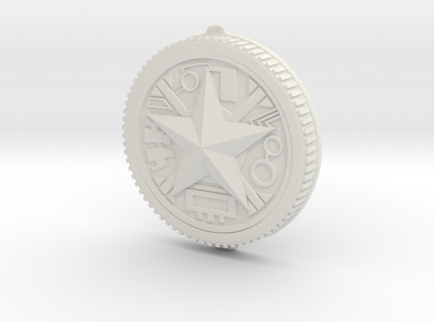 LC Morph Coin - Red Zeo in White Natural Versatile Plastic