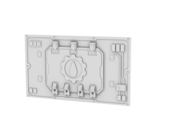 Blood Gears Thunderhawk Panel Set in Smooth Fine Detail Plastic