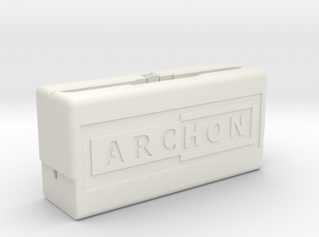 Archon Compilation Cartridge Case (Part 1 of 3) in White Natural Versatile Plastic