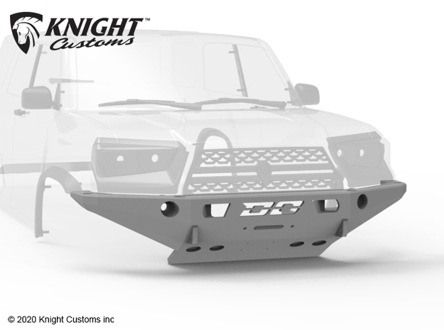 KCDM1006 Demello Trail Runner Front Bumper in Black Natural Versatile Plastic