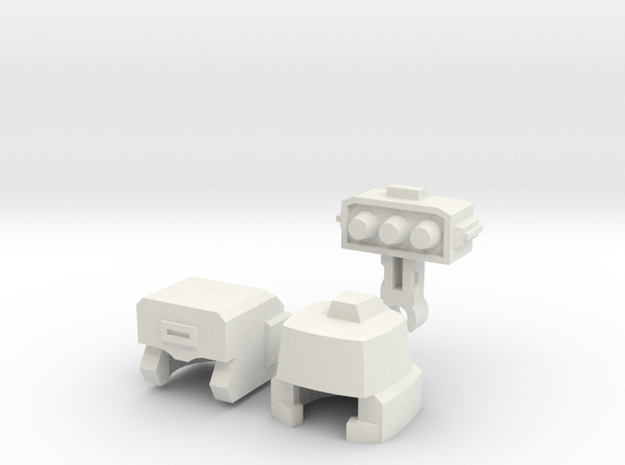 Robohelmets: Breaker-Breaker in White Natural Versatile Plastic