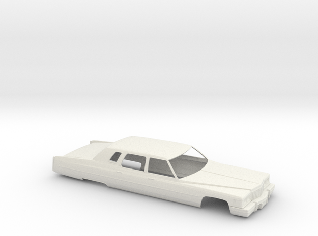 1/32 1975 Cadillac Fleetwood Limo Shell in White Natural Versatile Plastic