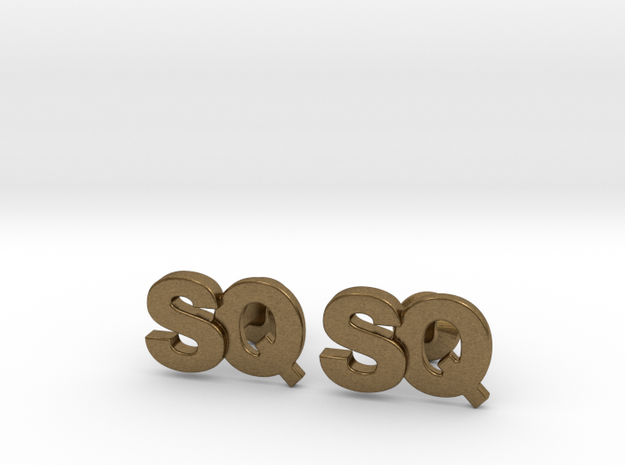 Monogram Cufflinks SQ 3d printed