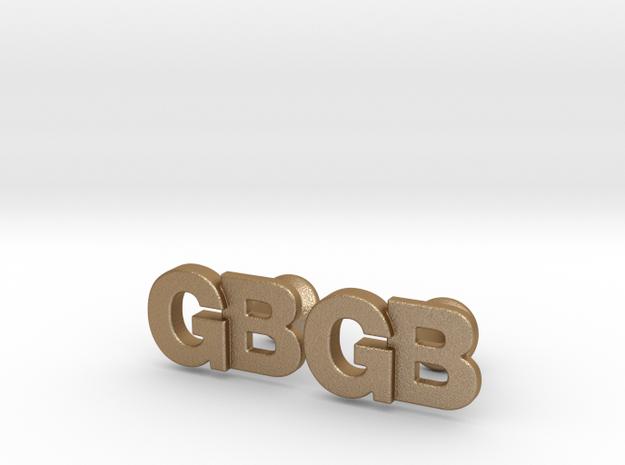 Monogram Cufflinks GB 3d printed