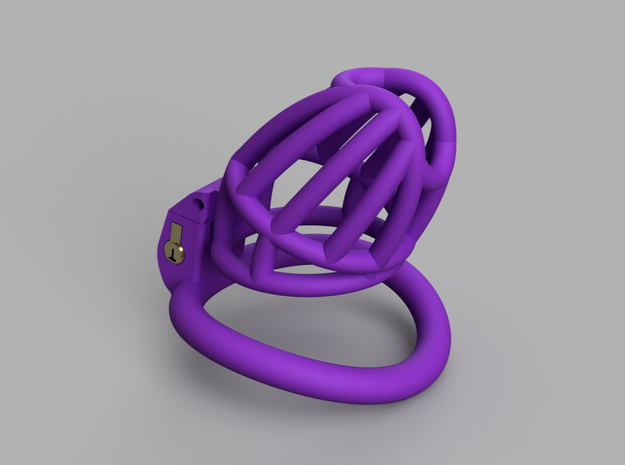 Cherry Keeper Cage - Long in Purple Processed Versatile Plastic: Extra Small