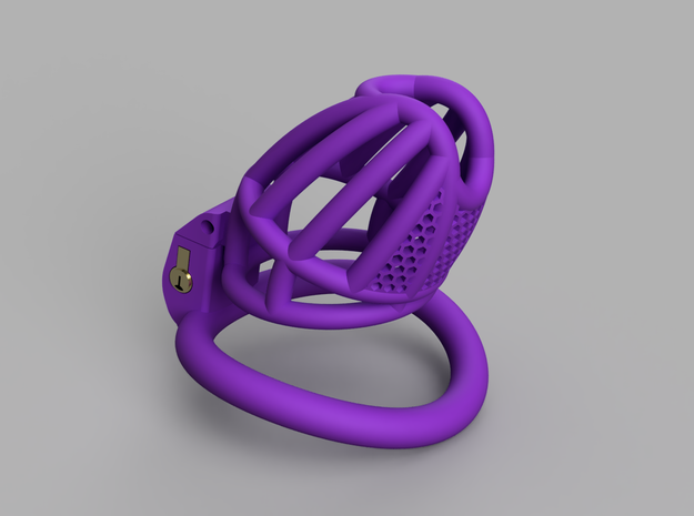 Cherry Keeper Long with TouchStop in Purple Processed Versatile Plastic: Extra Small
