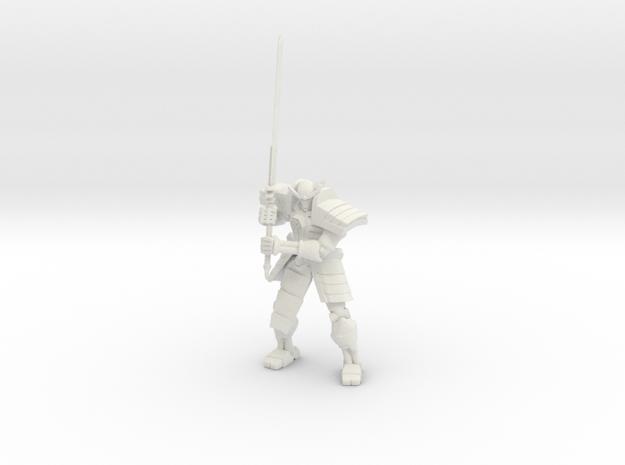 Robot Samurai Skeleton 01 in White Premium Versatile Plastic