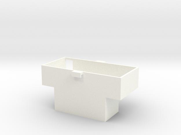 FA20009 Sand Rail Radio Box in White Processed Versatile Plastic