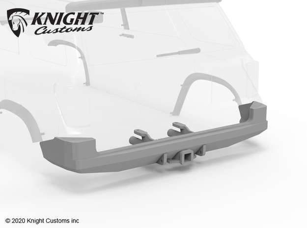 KCDM1008 Demello Trail Runner Rear Bumper in Black Natural Versatile Plastic