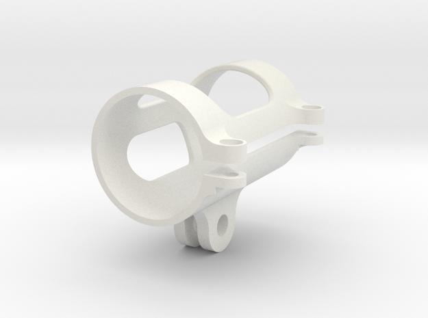 Flashlight GoPro Mount in White Strong & Flexible