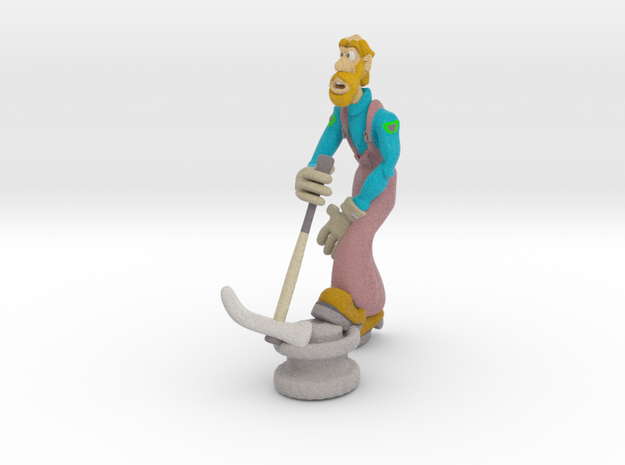 Repair Man in Full Color Sandstone