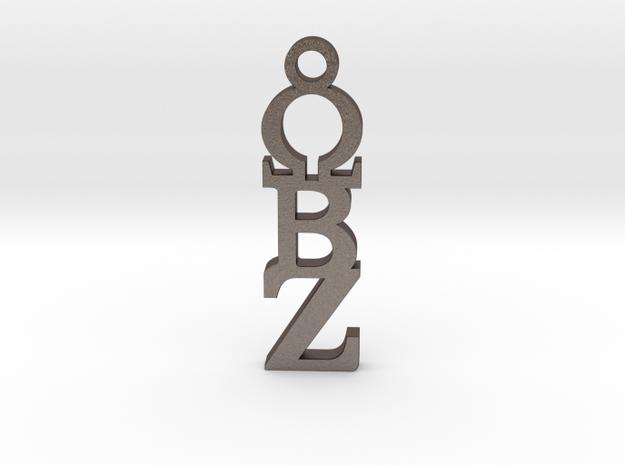 Cici OBZ Pendant ⛧ VIL ⛧ in Polished Bronzed-Silver Steel