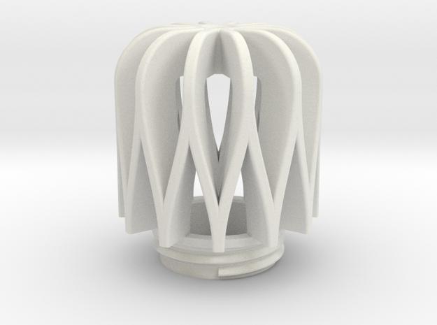 TeaC | Weave (12) *Lg in White Natural Versatile Plastic