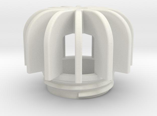 TeaC | Fins (12) *Sm in White Natural Versatile Plastic
