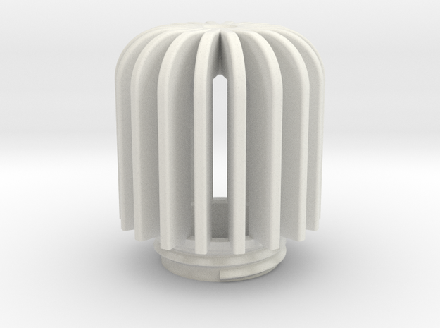 TeaC | Fins (18) *Lg in White Natural Versatile Plastic