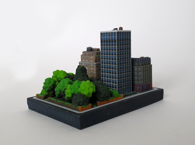 Residential tower 2x2 in Natural Full Color Sandstone