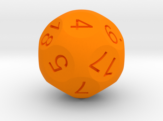 D18 Sphere Dice 3d printed
