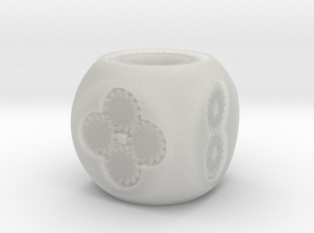 Geared D6 Prototype 3d printed