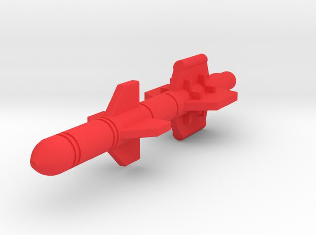 Starcom - Starhawk - Torpedo in Red Processed Versatile Plastic