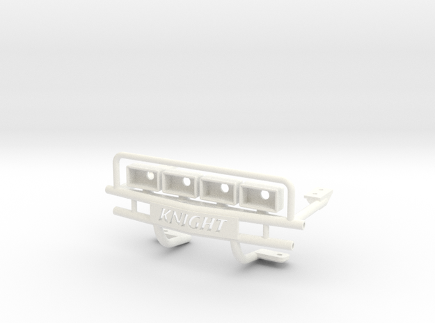 FA30001 Desert Patrol Vehicle Bumper in White Strong & Flexible Polished