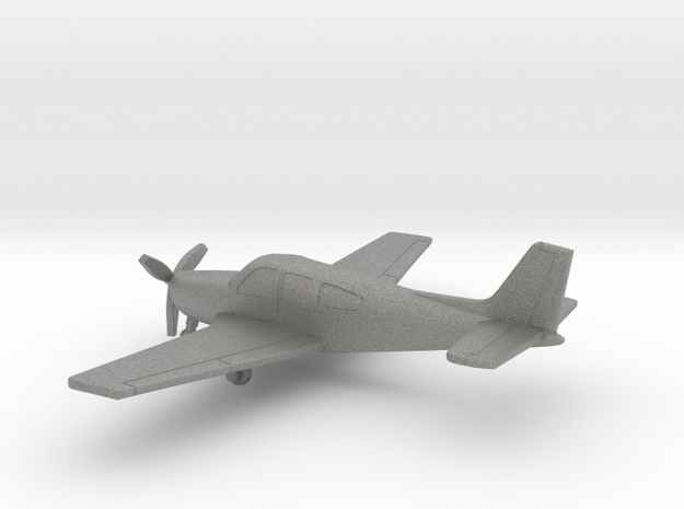 Beechcraft F33A Bonanza in Gray PA12: 1:144