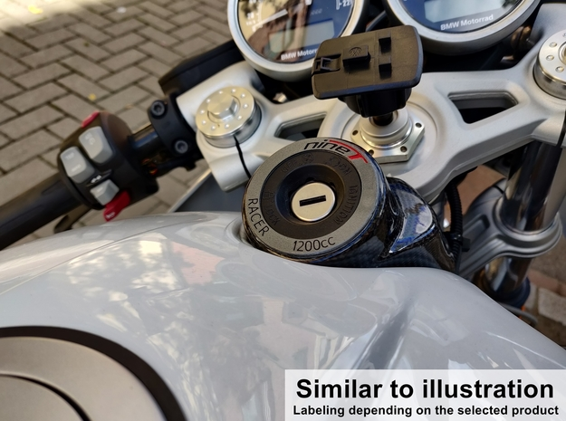 Ignition Lock Cover for BMW R nineT Racer in Aluminum