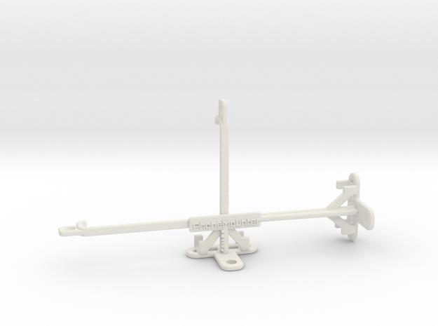 Samsung Galaxy M21 tripod & stabilizer mount in White Natural Versatile Plastic