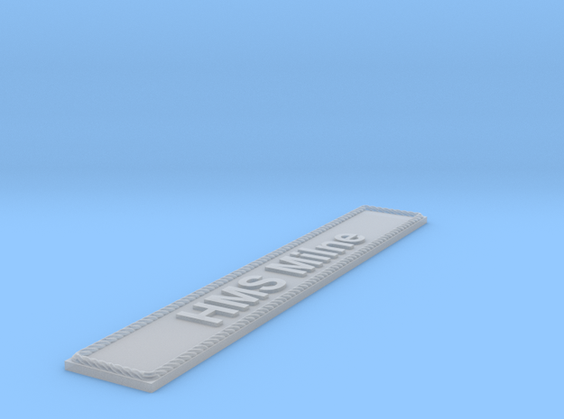 Nameplate HMS Milne in Smoothest Fine Detail Plastic