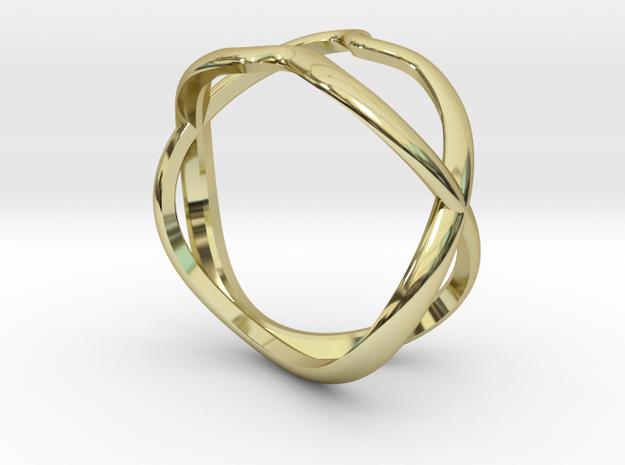 ring twenty-09 in 18k Gold Plated Brass: Small