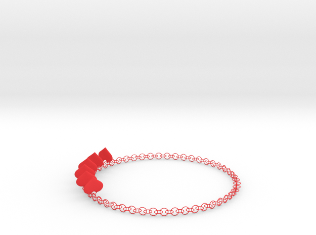 HeartNeck in Red Processed Versatile Plastic