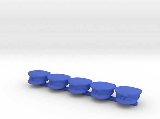 5 x Waaf peaked hat  in Blue Processed Versatile Plastic