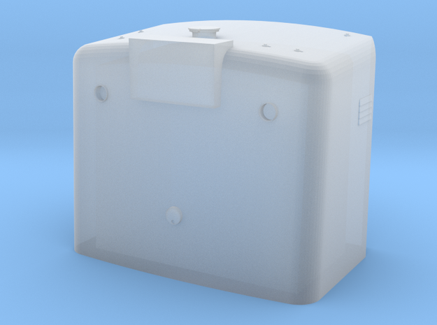 GE Short Hood w/ nose light housing S Scale in Smooth Fine Detail Plastic: 1:64 - S