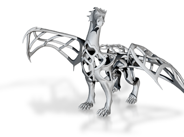 Dragon Model Wireframe 3d printed