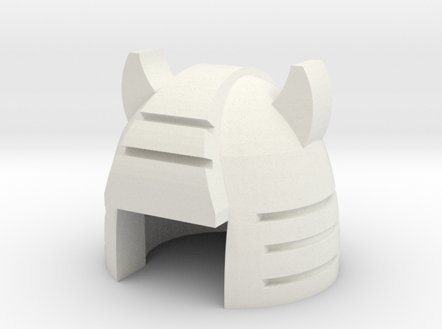 Robohelmet: Scrappy-bot in White Natural Versatile Plastic