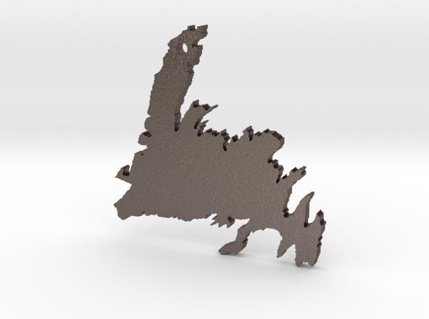 Newfoundland in Polished Bronzed Silver Steel