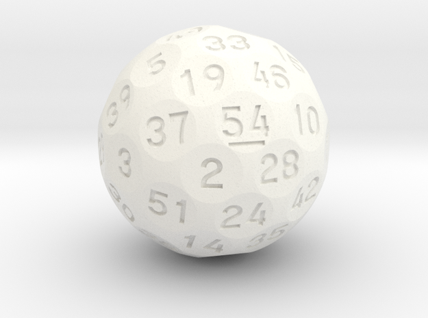 """d54 """"Six-Nine"""" in White Processed Versatile Plastic"""