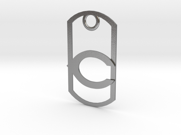 "Carlsbad ""C"" dog tag 3d printed"