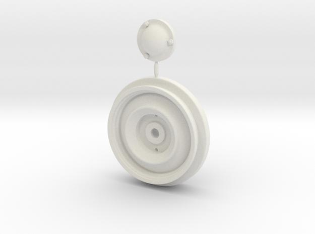 Tamiya 1/10 Citroen 2cv Wheel Set in White Natural Versatile Plastic