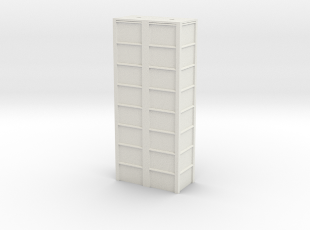'HO Scale' - 16'x8'x 40' Loadout Bin in White Natural Versatile Plastic