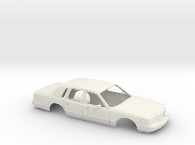 1/25 1996 Lincoln Town Car Shell in White Natural Versatile Plastic