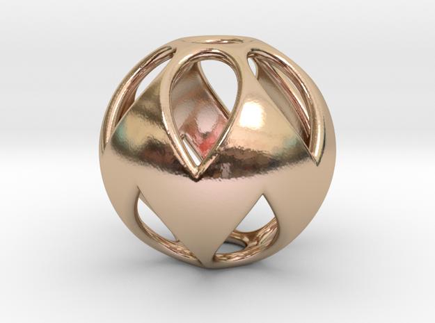 Flower Sphere Pendant 3d printed