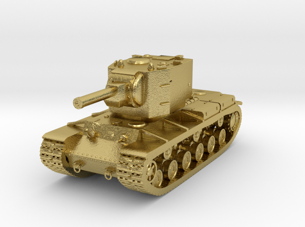 Tank - KV-2 - size Large in Natural Brass