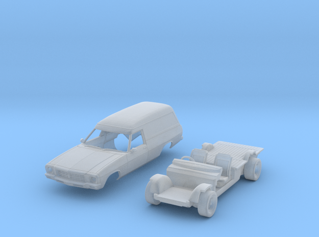 HQ Panelvan 2 part kit 87th in Smooth Fine Detail Plastic