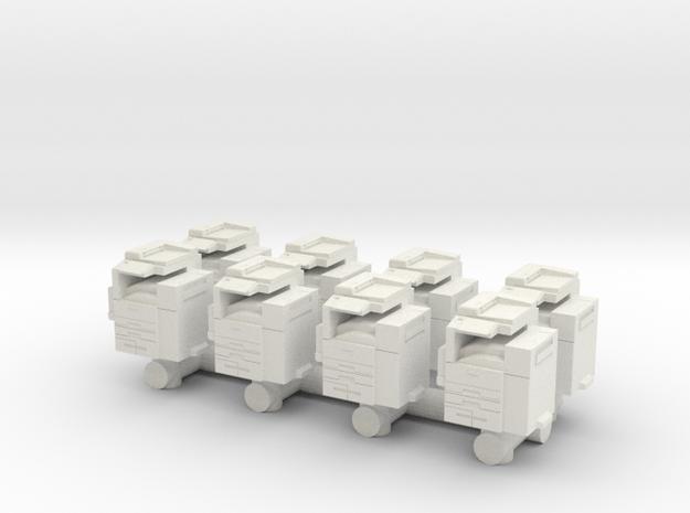 Office Printer (x8) 1/100 in White Natural Versatile Plastic