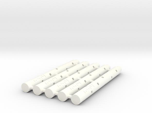 Adapter: Pilot G2 Mini To D1 Mini (x5) in White Processed Versatile Plastic