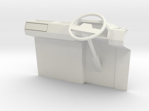 1:14 Suzuki Carry Mini Van R H D dashboard in White Natural Versatile Plastic