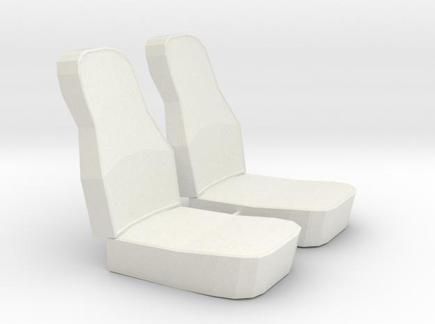 1:14 Suzuki Carry Mini Van Seats in White Natural Versatile Plastic