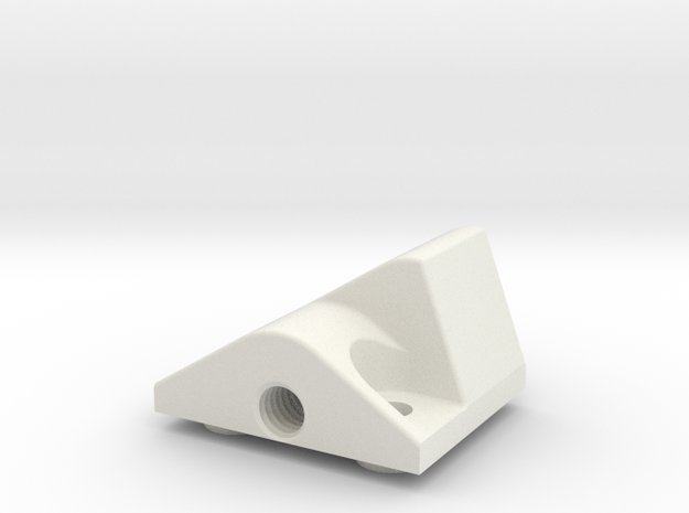 TopCaseLatch in White Natural Versatile Plastic