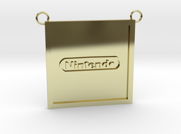 Nintendo Pendant (Contact to Add Stones) in 18K Yellow Gold