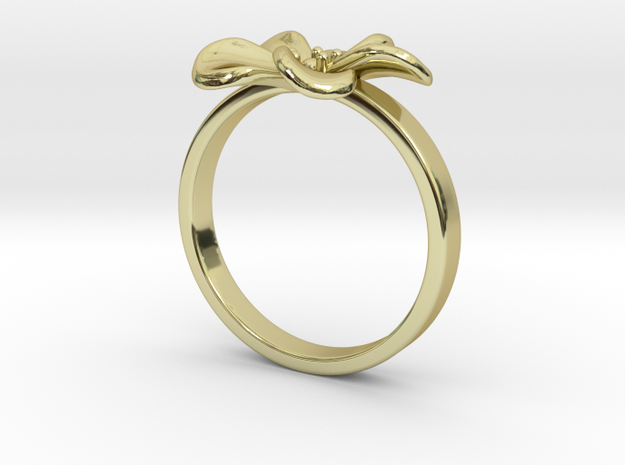 Flower Ring 98 (Contact to Add Stones) in 18K Yellow Gold